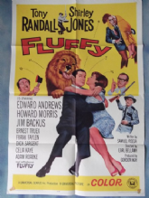 Fluffy, Movie Poster, Tony Randall, Shirley Jones, '65